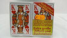 2er Skat Senioren Spielkarten Extra Große Ziffern und Buchstaben Neu Sp 81 OVP
