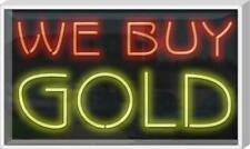 """Outdoor We Buy Gold Neon Sign 