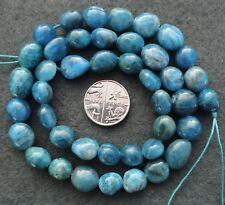 8-11mm Blue Apatite Pebble Potato Nugget Freeform Semi-Precious Gemstone Beads