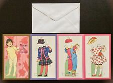 Special Girl Paper Doll Greeting Card by Tom Tierney, 1996, Uncut, Unused