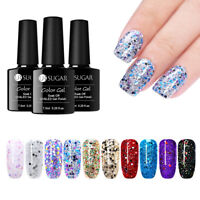 7.5ml Soak Off UV Gel Nagellack Holographische Laser Pailletten Deckor UR SUGAR