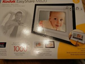 """Kodak EasyShare M820 8"""" Digital Picture Frame 1000 Pictures BRAND NEW Never Used"""