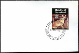 Somaliland 1998 Caracal Air Mail Official Imperf BLue Overprint Cover #C33762
