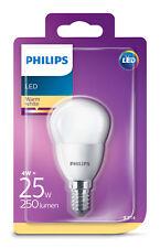 Philips E14 LED Golf Ball Light Bulb 4W SES 25Watt Warm White 250lm 2700K A+