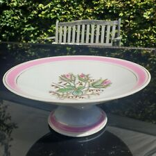 Lovely Vintage Porcelain 1 Tier Floral Cake Stand