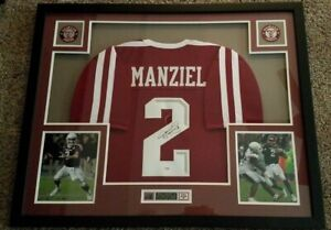 Texas A&M Aggie QB Johnny Manziel Autographed & Framed Maroon Aggies Jersey PSA