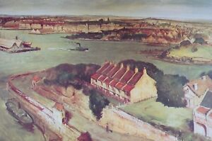 Lloyd Rees, The Harbour from McMahons Point 1950. Sydney Harbour 1950.