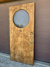 Antique Vintage Solid Wood Entry Door with Glass