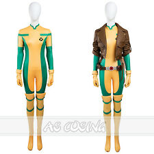 X Men Rogue Cosplay Costume Anna Marie Costume Jumpsuit  Halloween Costume