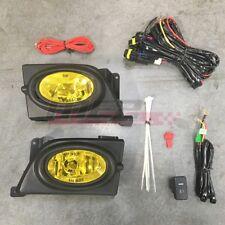 For Honda Civic Sedan 06-08 Factory Replacement Fit Fog Light + Kit Yellow Lens