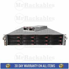 2U Supermicro 12 Bay SC826TQ-R800 Server X8DTN+ 2x Xeon E5645 Six Core 96GB RAM