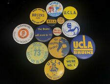 VINTAGE UCLA FOOTBALL BADGES Lot of 14 PINS 1970s Rose Bowl USC College Sports
