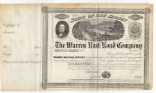 185- Warren Railroad Company Stock Certificate