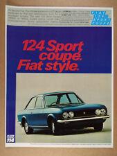 1970 Fiat 124 Sport Coupe vintage print Ad