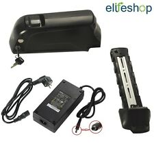 USB Down Tube 36V16Ah(592Wh) Electric Bike Lithium-ion Battery Black +3A Charger