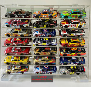 NASCAR Diecast Display Case 21 car TILT SHELF 1:24