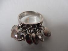 schöner alter Ring__925 Silber__hängende Herzen__Herzring__!