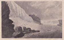 1834 steel engraving William Guy Wall NIAGARA FALLS From Below, Hudson River Sch