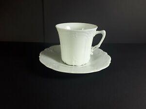 Kaffeetasse + Untere  Tirschenreuth Baronesse weiß