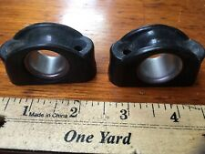 "2 Allen A-152 Bulls Eye Fairlead, 1/2"" Diameter, And 2 Other Sheet Leads- Used"