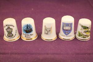 5 Collectible Porcelain Thimbles