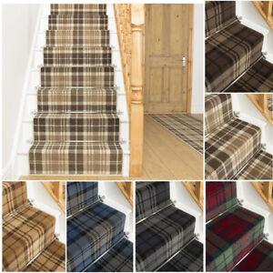runrug Long Stair Carpet Runner Heavy Duty Washable Modern Tartan