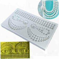 Diamond Pearl Jewelry Silicone Fondant Cake Mold Chocolate Border Baking Mould