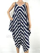 Markenlose gestreifte Damenkleider für Business-Anlässe