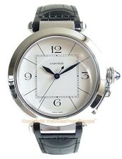 CARTIER PASHA 42 Steel Automatic Mens Watch W3107255 Box/Papers/Warranty