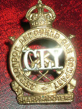 CAP BADGES-ORIGINAL COUNTY OF LONDON YEOMANRY 23rd LONDON ARMOURED CAR CO SCARCE