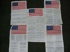 SET OF 5 US MILITARY VIETNAM KOREAN WAR BLOOD CHIT EUROPE FAR EAST SE ASIA USSR