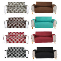 Reversible Quilted Sofa Cover Slipcover Loveseat Chair Couch Pet Mat Protector