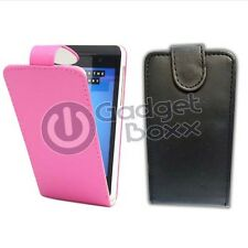 CASE FOR BLACKBERRY Z10 IN BLACK, PINK PU LEATHER FLIP POUCH PHONE COVER