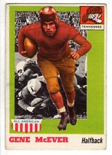 1955 Topps All-American Football Card #74 Gene McEver Tennessee Volunteers EX