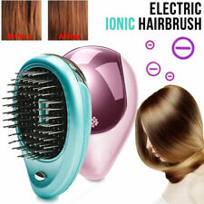 Portable Electric Ionic Hairbrush  Mini Ion Hair Brush Comb Massage Comb