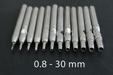 0.5-4.5mm Silver Round Drive Leather Punch and Round Leather Craft Punch To E7Y1