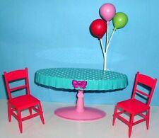 %***Barbie Möbel,Tisch,Stühle,Luftballons für Stacie+Chelsea***%