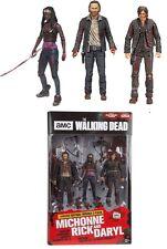 Walking Dead Daryl Rick & Michonne Heroes Set Action Figures McFarlane PRE-ORDER