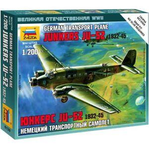 "Zvezda 6139 Ju-52 ""Toucan"" (Junkers) mod. 1932-45 /german transport plane/ 1/200"