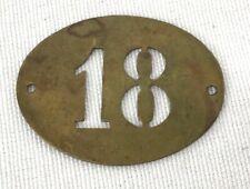 Vintage Military Brass Unit Badge