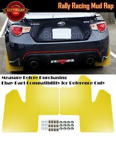 "15"" x 11.5"" 4 Pc Yellow Rally Racing Flexible Mud Flaps Splash Guard Fit Subaru"