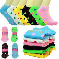 6 Pairs Women Girls Fashion Cotton School Casual Low Cut Socks  9-11 HEART