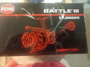 Battle III BTLiii8000hs PENN reel in box