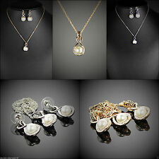 Swarovski Modeschmuck-Halsketten & -Anhänger mit Perle für Damen