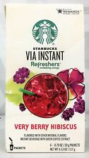 Starbucks Via Instant Refreshers Very Berry Hibiscus Instant Beverage 4.13 oz