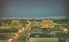 LAM(W) Anchorage, AK - Twilight View of City and Chugach Mountains