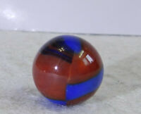 #11182m Vintage Marble King Spiderman Marble With Oxblood .61 Inches