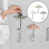 3Pcs Key Holder Storage Rack Hanging Shelves Umbrella Hanger Wall Decor B3B1