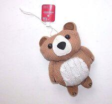NEW Christmas Ornament Tan Knit Bear