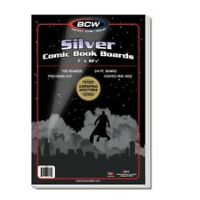 BCW Silver Comic Book Backer Boards Pack of 100 Acid Free 24 PT New